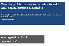 Alternative raw materials to make textile manufacturing sustainable