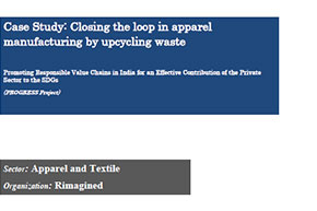 Closing the loop in apparel manufacturing by upcycling waste