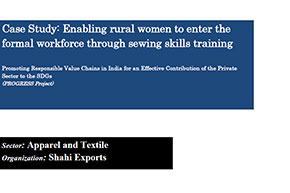 Enabling rural women to enter the formal workforce through sewing skills training