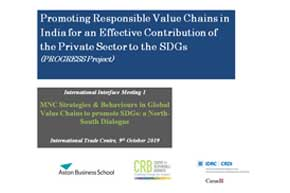 MNC Strategies & Behaviours in Global Value Chains to promote SDGs: a North-South Dialogue_Report 2019