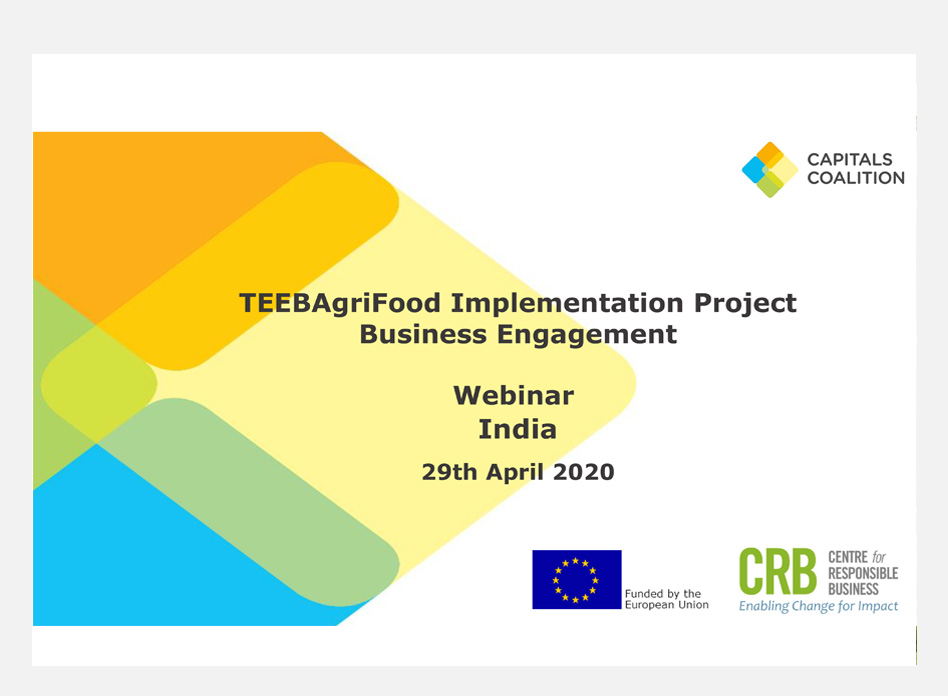 TEEB Agri Food Implementation Project Business Engagement Launch