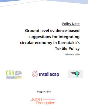 Ground level evidence-based suggestions for integrating circular economy in Karnataka's Textile Policy