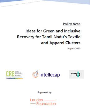 Ideas for Green and Inclusive Recovery for Tamil Nadu's Textile and Apparel Clusters