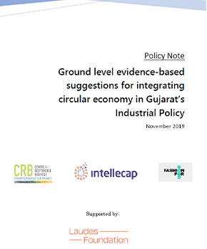 Ground level evidence-based suggestions for integrating circular economy in Gujarat's Industrial Policy