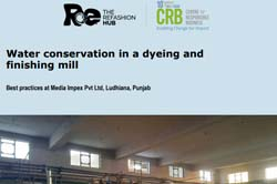 Water conservation in a dyeing and  finishing mill