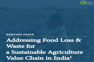 Addressing Food Loss and Waste for a Sustainable Agriculture Value Chain in India
