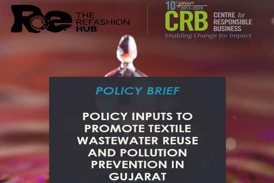 Policy inputs to promote textile wastewater reuse and pollution prevention in Gujarat