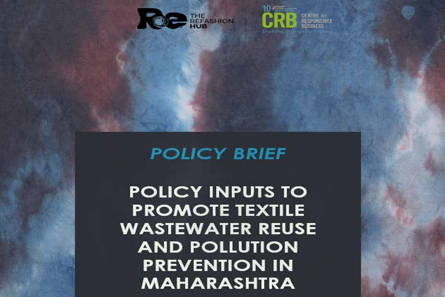 Policy inputs to promote textile wastewater reuse and pollution prevention in Maharashtra