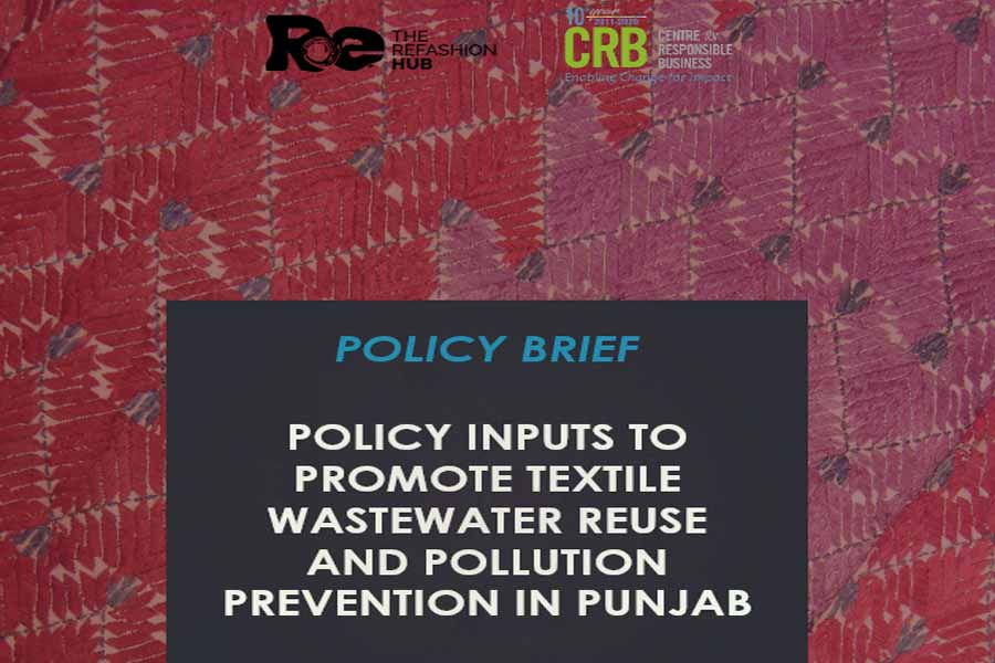 Policy inputs to promote textile wastewater reuse and pollution prevention in Punjab