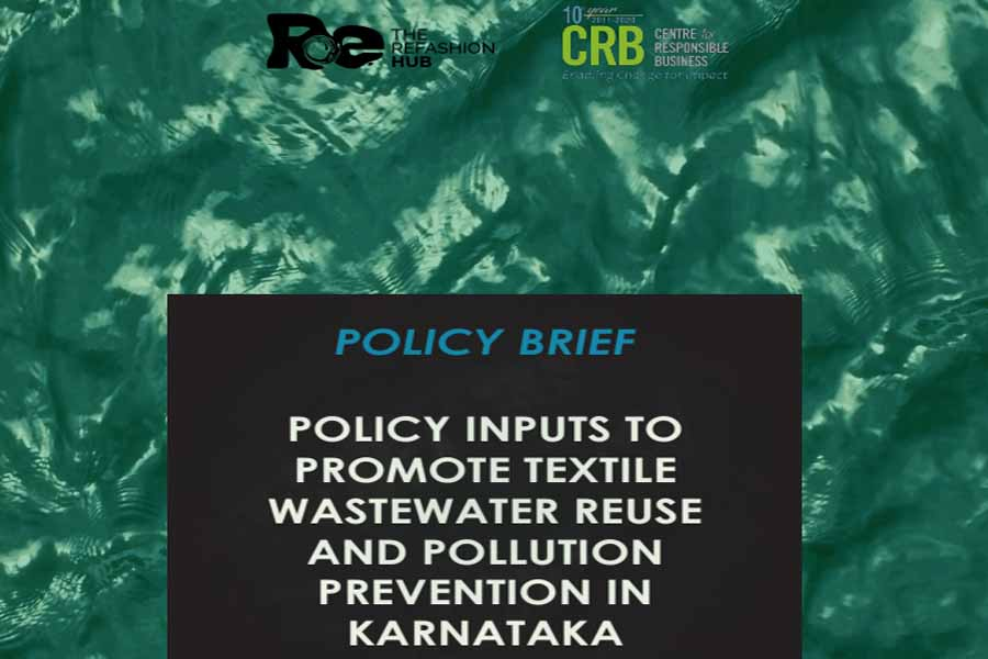 Policy inputs to promote textile wastewater reuse and pollution prevention in Karnataka