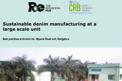 Sustainable denim manufacturing at a large scale unit