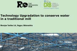 Technology Upgradation to conserve water in a traditional mill